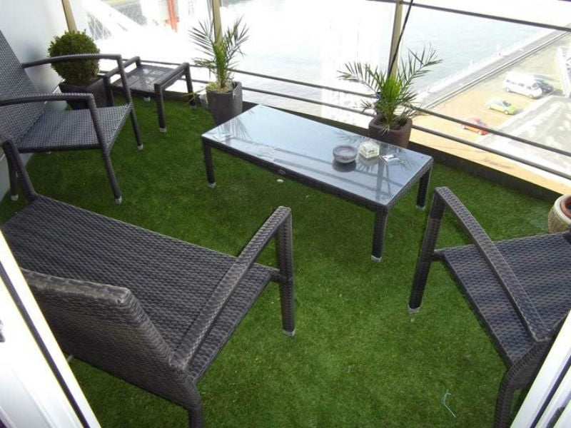 artificial grass balcony Artificial Grass For Patios Adds A Modern Look To Your